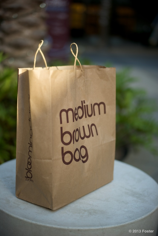 medium brown bag