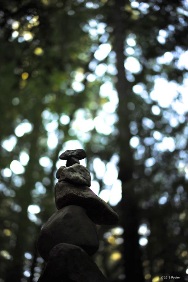 Secret woodland cairn..